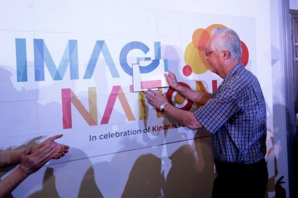 ESM Goh launching ImagiNation, in celebration of Kindess Day SG 2015. Credit: SKM.