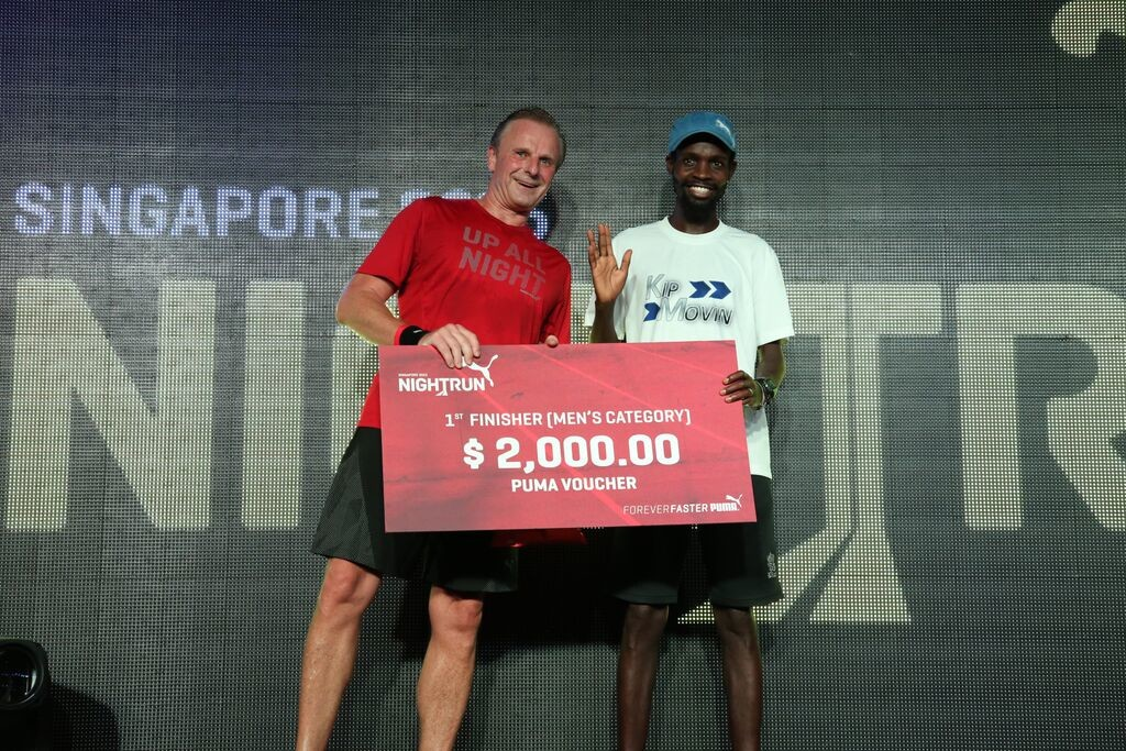 Thomas Kiprotich won the Men's Open category at Puma Night Run 2015.