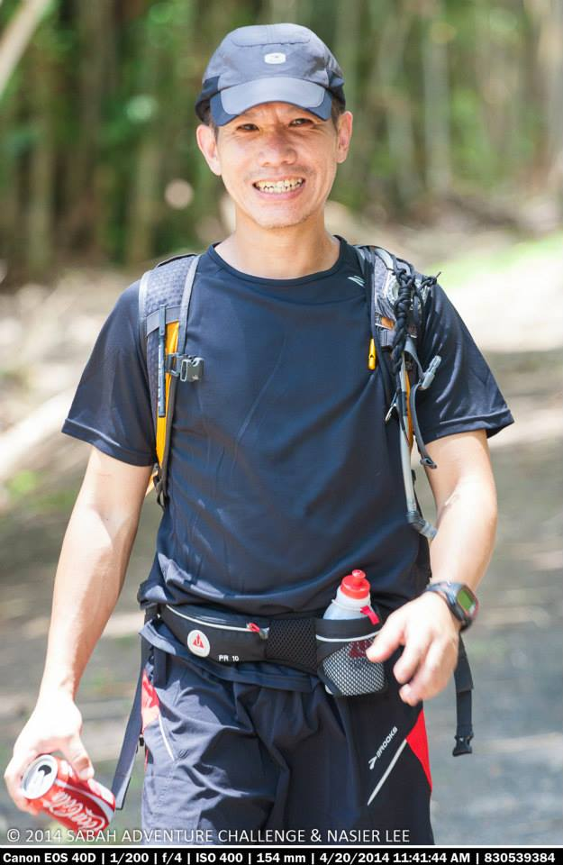 Ray Loh gears up for the Sabah Adventure Challenge 2014.