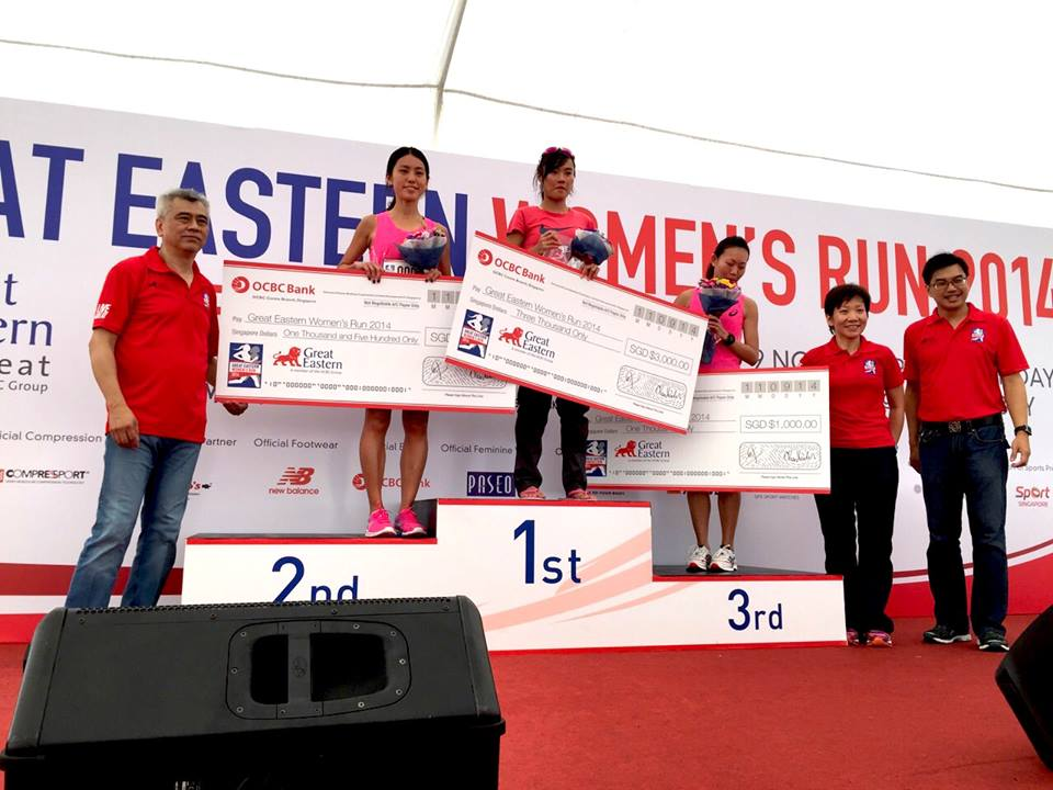 Winners for the Singaporean Elite Closed Category at GEWR 2014 - Mok Ying Ren (1st), Rachel See (2nd) and Jieshi Neo (3rd).