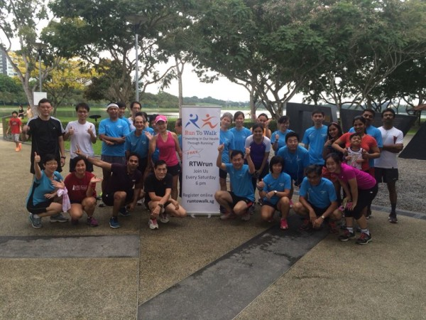 Run To Walk takes place every Saturday at Bedok Reservoir Park. Source: Run To Walk.