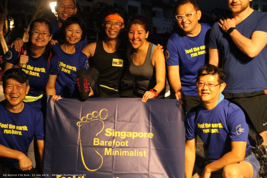 Singapore Barefoot Runners was one of the many groups present. [Photo: Facebook/David Tan]