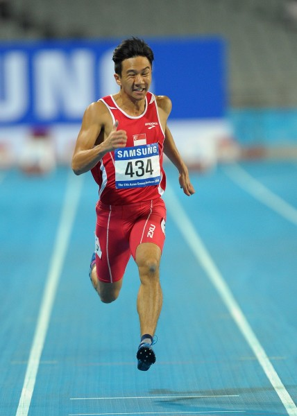 Calvin Kang at the 2014 Asian Games in Incheon, South Korea.