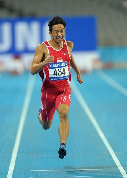 Calvin Kang at the 2014 Asian Games in Incheon, South Korea.