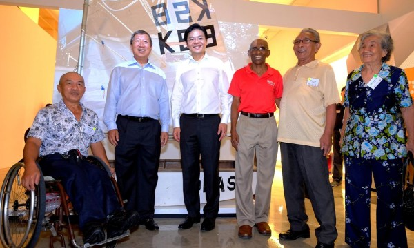 (in picture below from L to R: Mr Robert Tan, multiple Paralympian, Mr Ng Ser Miang, Member of International Olympic Committee, Minister Lawrence Wong, sprint legend Mr C Kunalan, Mr Majid Arif, Football star of the 50's and 60's and Mrs Tan Yoon Yin, founder of Netball Singapore) Credit: Team Singapore