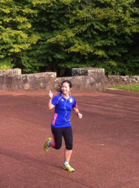 Enjoying my run! Source: Cornwall Park parkrun.