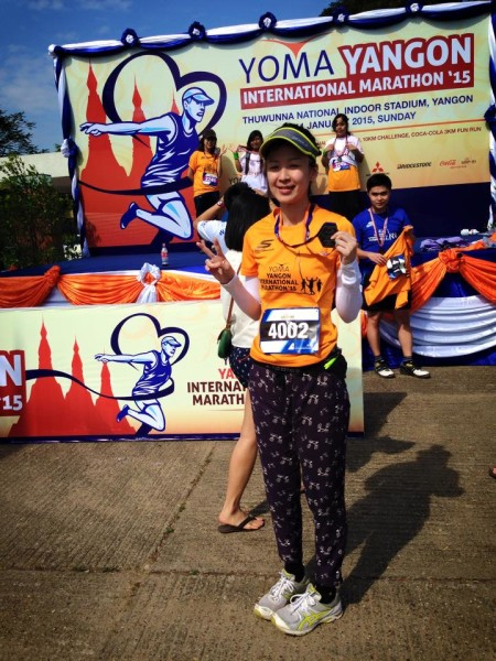Lin Xiuyi is a proud finisher of the Yoma Yangon International Marathon 2015.