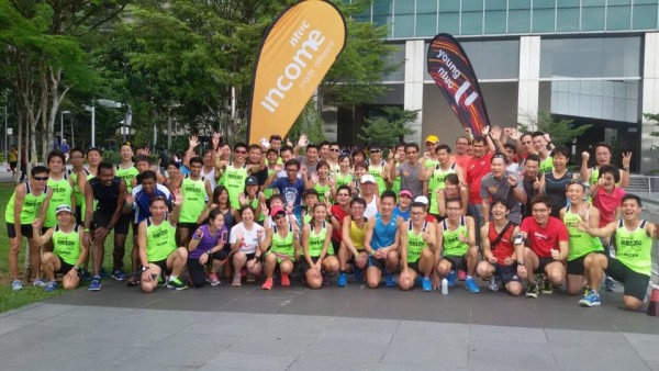 A running clinic to prepare runners for NTUC Income RUN350 was held yesterday. (Photo: RUN350).