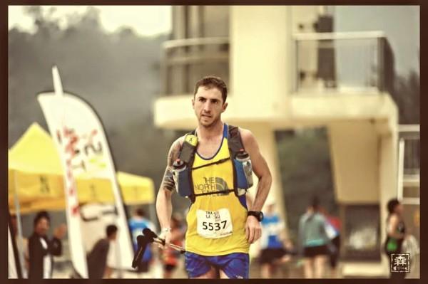 Vlad Ixel at one of his recent races - 100km TransLantau 2015 in Hong Kong.