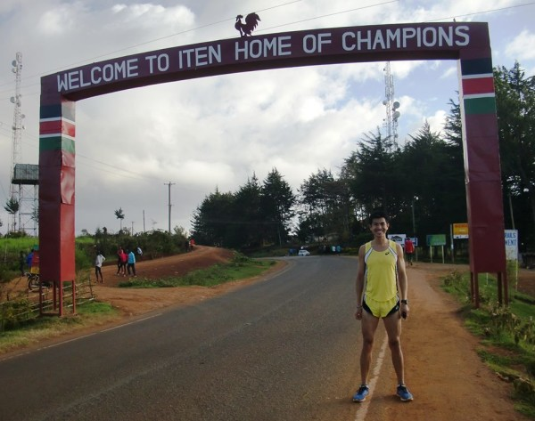 "Upon arrival at Iten (Kenya), ""home of champions""."