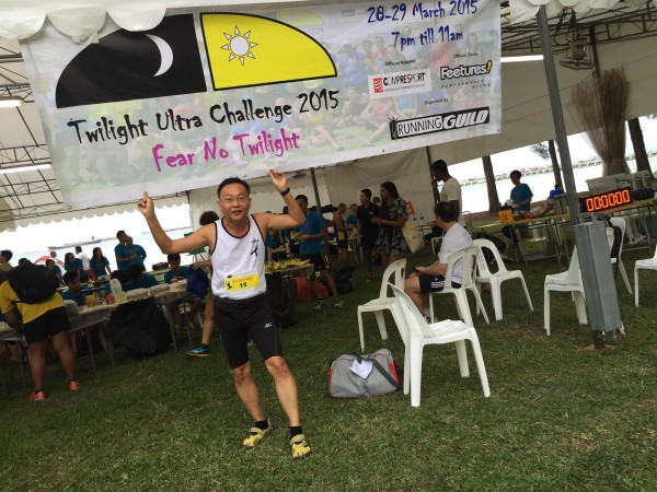 Tan Tick Hock is one of the ultra runners who completed exactly 91km.