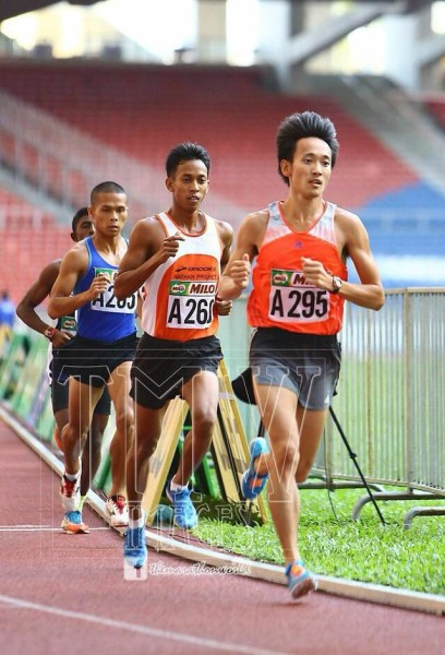 Wong in action at the Malaysia Open 2015 - 5km race.  (credits: Rozmi Yunus)