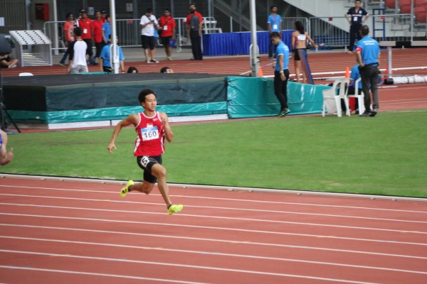 At the 77th Singapore Open Track & Field Championships in 2015. (Credit: Nicholas Fang)