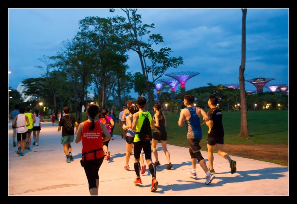 The runners are on their way. Credit: Ming Ham