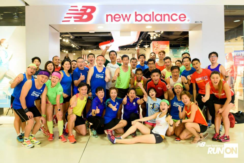 Runners at the first NB Run On training clinic - to prepare for the race. Photo by New Balance