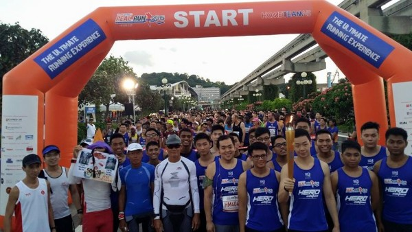 Runners at the starting line of Real Run 2015. Credit: Go50 - A Nation in Motion