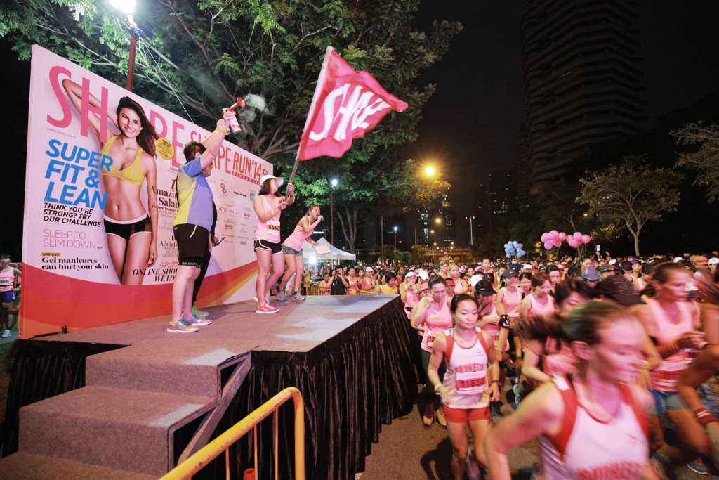 Shape Run 2015 flags off! Photo by: Shape Singapore.