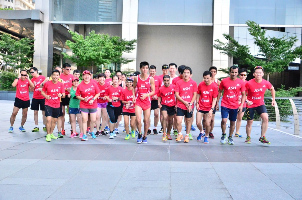 The running group at the Young NTUC clinic. Photo by: Steven Tan Boon Poh