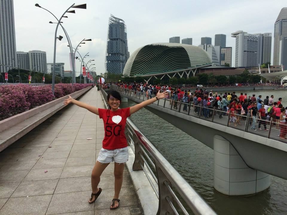 One of Zhi Wen's staycation highlights was catching the NDP at the Padang.