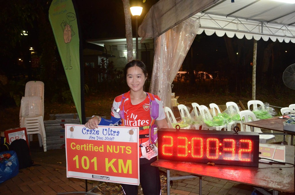 Completed the 101km race. Photo credit: Running Guild