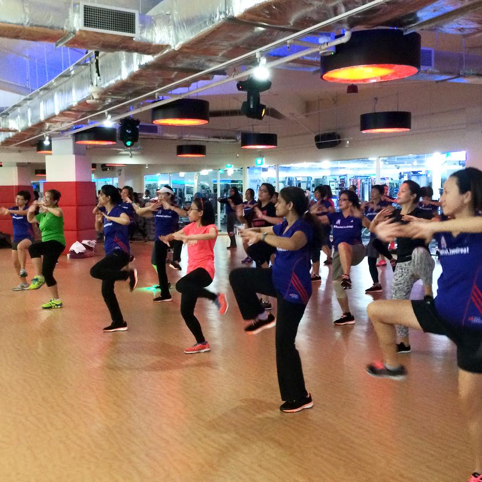 Dancing and working out to Korean music. Photo credit:GEWR.