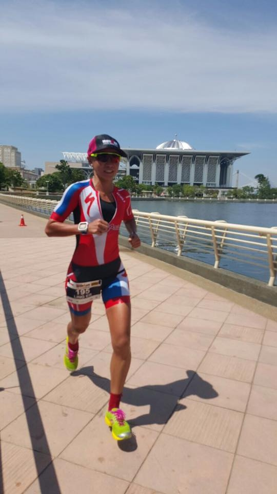Competing in Putrajaya 70.3 this year. [Photo: Facebook/Ling Er Choo]