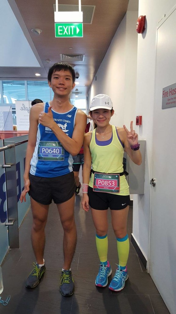 Yi Heng (left) and Justina (right) at the race. [Photo by Justina Zeng]