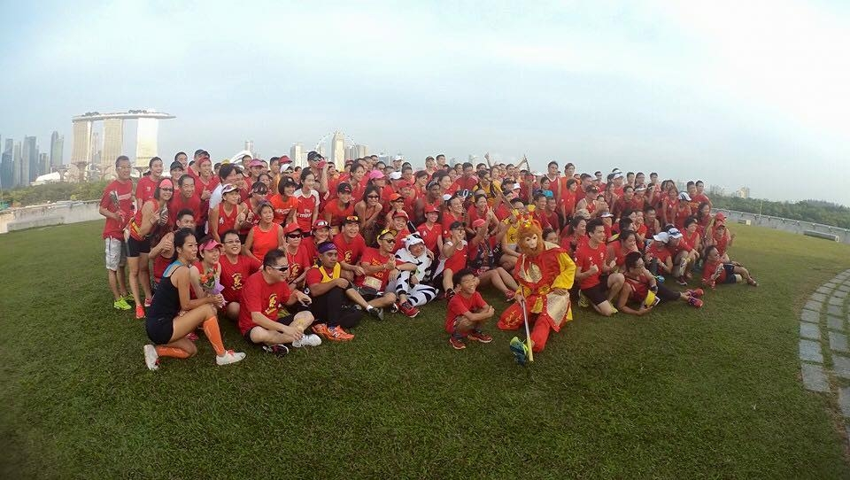 The fun run attracted about 300 runners. [Photo by Yeo Hock Chuan-Lucas]