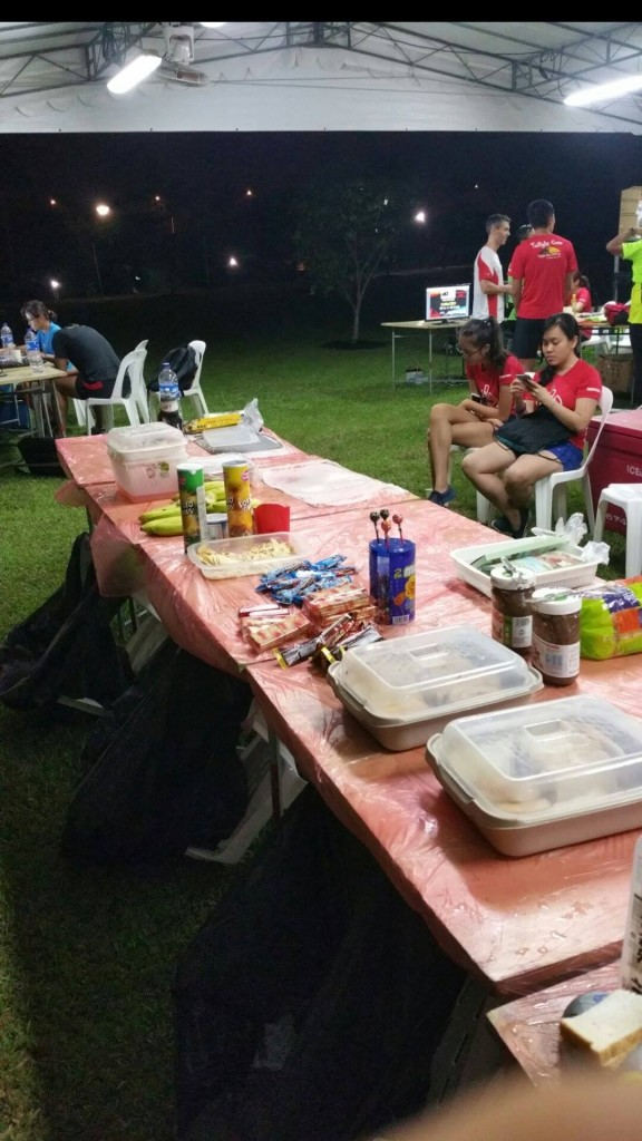 There was still food available at the race site at 4am. [Photo courtesy of Quek EeMeng]
