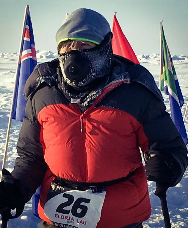 Gloria used her experience from her previous two Polar Runs to prepare her for this adventure.
