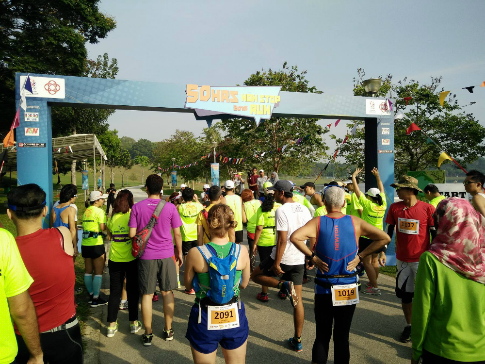The start line on Saturday 9am. [Photo by David Tan]