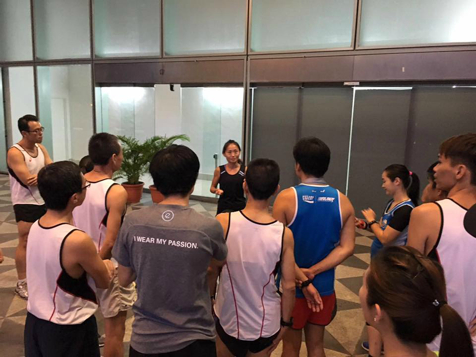 To Dr Lim (in black), rest is just as important as training. [Photo by ASICS running club]