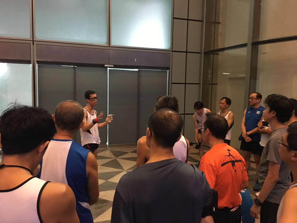Participants being briefed by ASICS running club before the run. [Photo by ASICS running club]