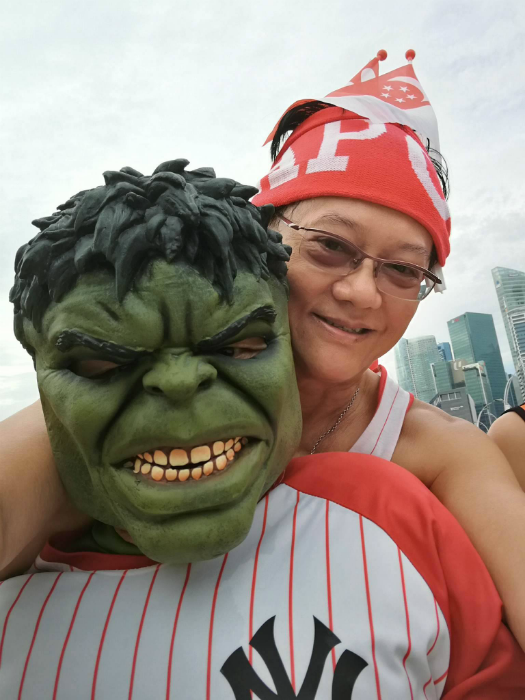 David Wee and Hulk. [Photo credits to David Wee]