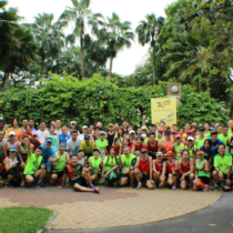 The Coconut Relay attracted a large turnout of runners.