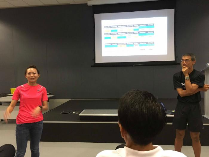Neo and Coach Quek gave a talk.