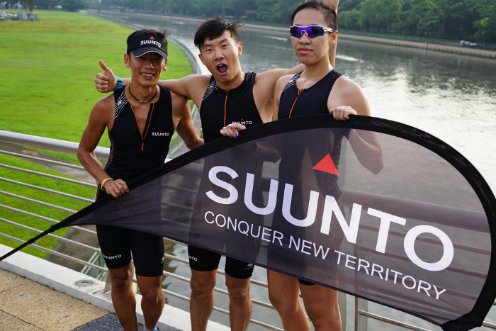 Suunto sponsored athletes at the session.