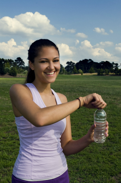 It is important for runners to hydrate.