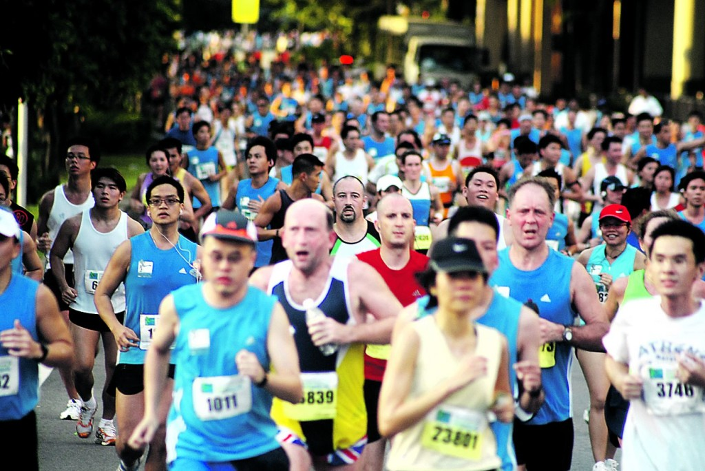 The Singapore Marathon is not the place to clock fast timings. (Photo by TODAY Online).
