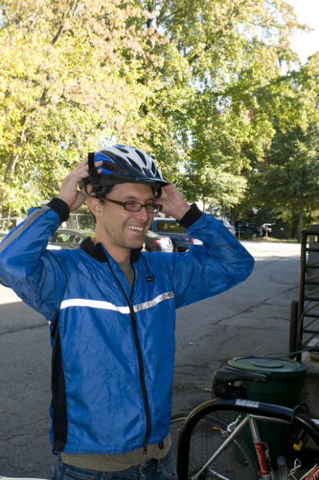 Wearing a helmet reduces cycling injuries by up to 85 per cent. Photo Source: CDC/ Amanda Mills acquired from Public Health Image Library (Website)