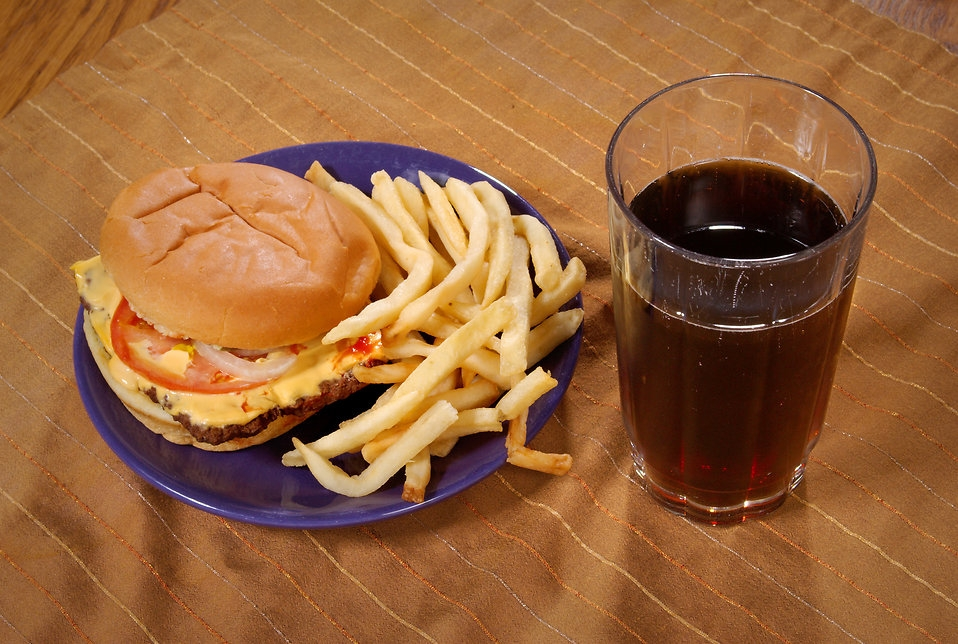 Fast foods are high in trans-fats. [Photo from CDC/ Mary Anne Fenley]