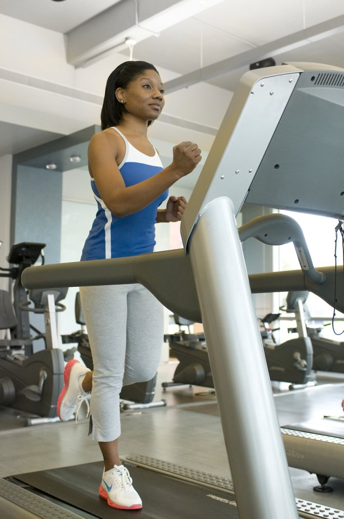 Treadmill running is a decent substitute for the outdoor version. [Photo from CDC/ Amanda Mills]