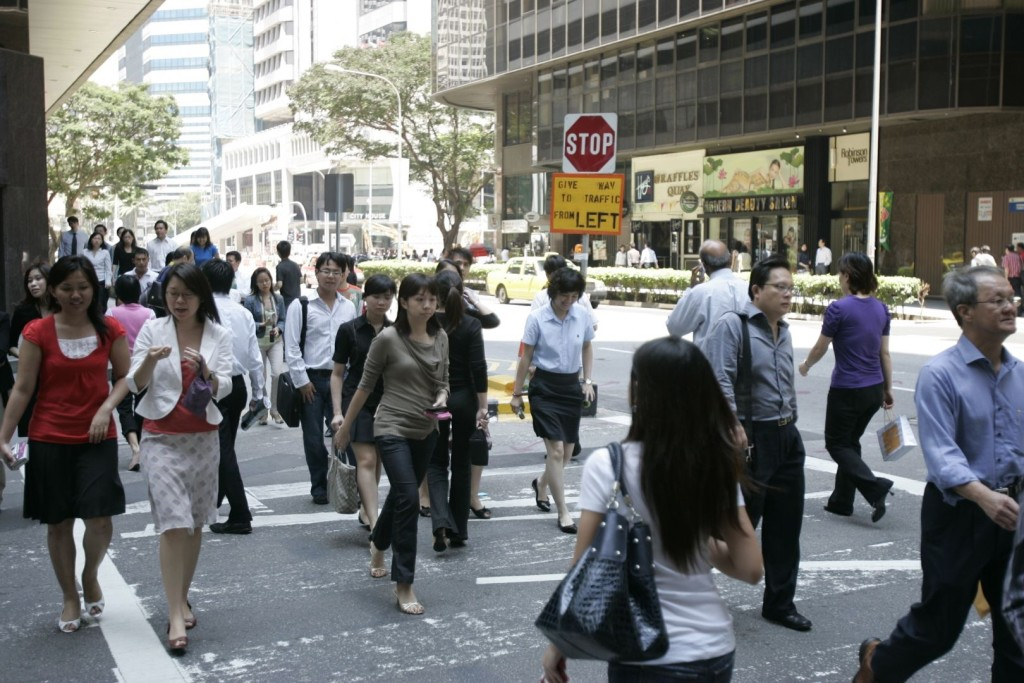 """""""So where do you work?"""" [Photo by www.todayonline.com]"""