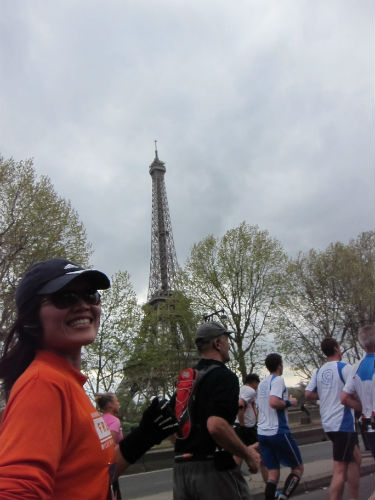 Paris Marathon, 2012. (Courtesy of Yvonne Chee).