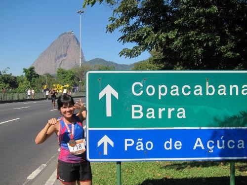 Rio de Janerio Marathon, 2013 (Courtesy of Yvonne Chee).