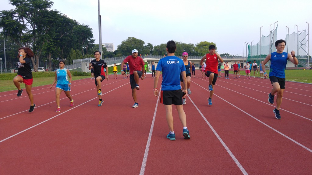 A Running Drill in action.