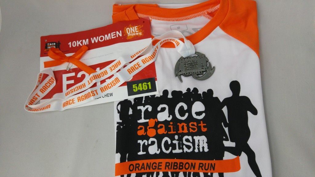 Souvenirs from the Orange Ribbon Run.