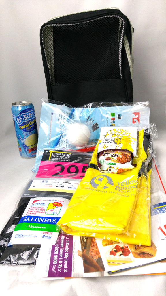 Race pack and its contents.