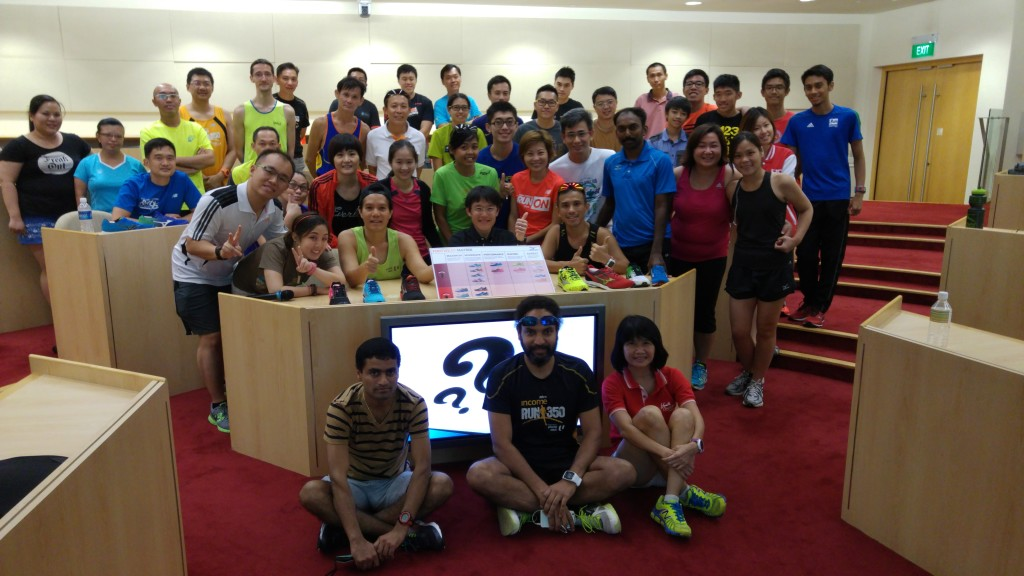 Young NTUC Earth Runners Sharing session with Dr Derek Li.