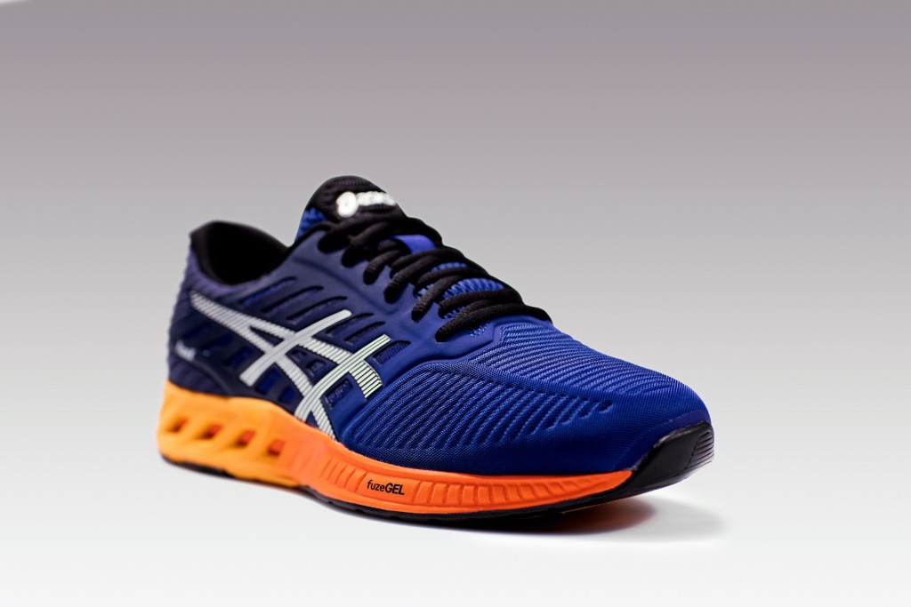 The men's version of the ASICS FuzeX shoe is a different colour. [Photo courtesy of ASICS].